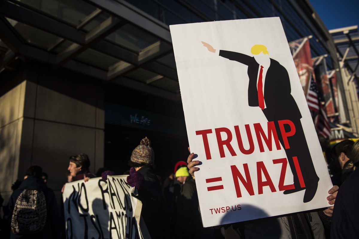 Protestors Rally Against Donald Trump Outside AIPAC Conference