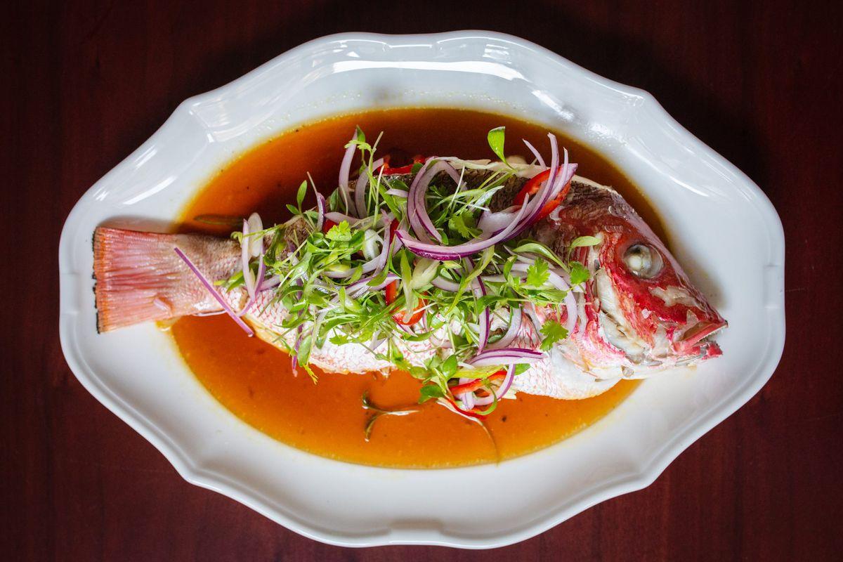 A whole fish dish at Nahita