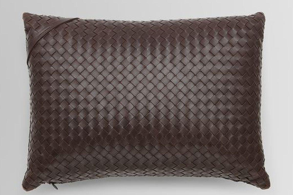 "Rectangular Intrecciato Nappa Pillow via <a href=""http://www.bottegaveneta.com/default/shop-products/designer-home/pillows-and-throws"">Bottega Veneta</a>"