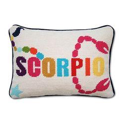 "Jonathan Adler 'Scorpio' pillow, <a href=""http://www1.bloomingdales.com/shop/product/jonathan-adler-zodiac-scorpio-decorative-pillow-9-x-12?ID=1148813&PartnerID=LINKSHARE&cm_mmc=LINKSHARE-_-n-_-n-_-n&LinkshareID=J84DHJLQkR4-V0eHcFhuRXAnrtcqreuR5Q"">$97.99<"