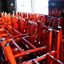 These chairs are made from 111 recycled soda bottles.