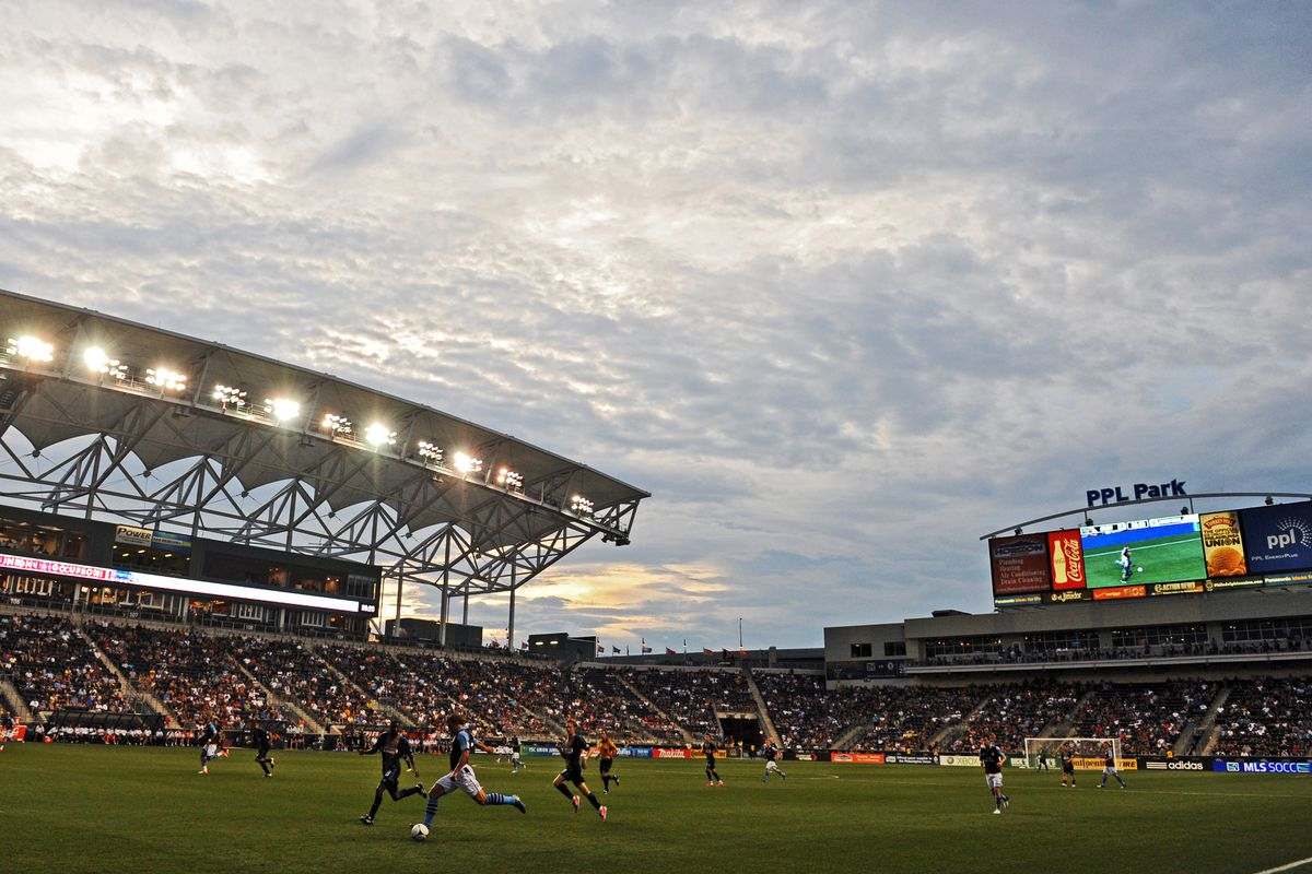 CHESTER, PA - JULY 18: Aston Villa plays the Philadelphia Union in a friendly at PPL Park on July 18, 2012 in Chester, Pennsylvania. Aston Villa won 1-0. (Photo by Drew Hallowell/Getty Images)