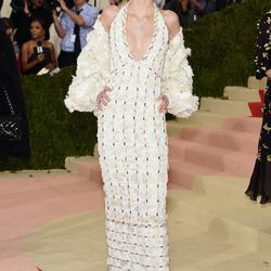 Lily-Rose Depp wears a Chanel gown.