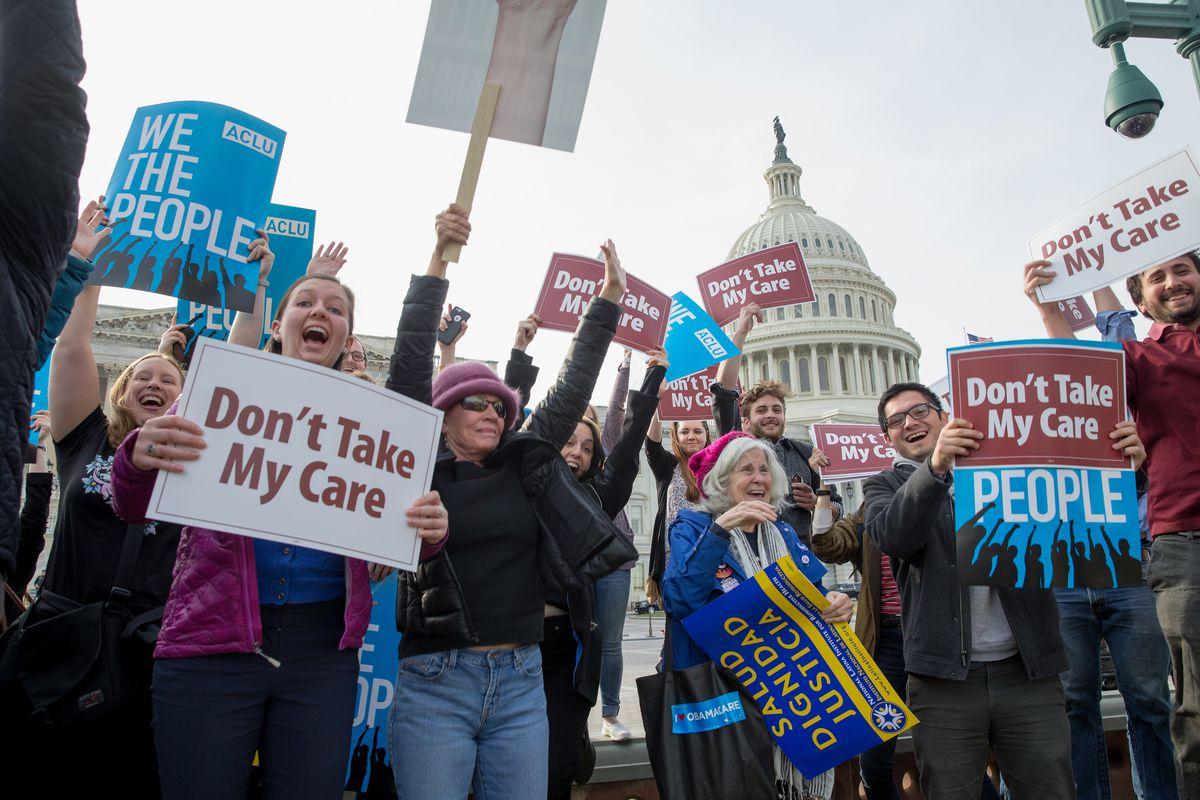 Advocates From MoveOn.org And Others Demonstrate At A 'Kill The Bill' Rally To Demand The House GOP Vote 'No' On Trumpcare At The Capitol