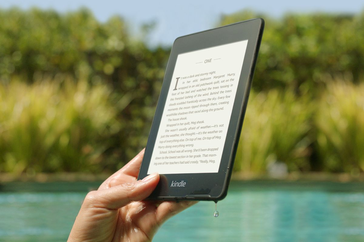 the new kindle paperwhite is finally waterproof the verge
