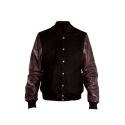 """Pigalle Wool Leather Mix Bomber (<a href=""""http://rsvpgallery.com/mens/outerwear/pigalle-wool-leather-mix-bomber-jacket-black-purple.html"""">$510.00, down from $1,020</a>)"""