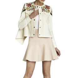 """<b>BCBG</b> Kristopher Embroidered Jacket, <a href=""""http://www.bcbg.com/Kristopher-Embroidered-Jacket/KGA4H239-1A7,default,pd.html?dwvar_KGA4H239-1A7_color=1A7&cgid=clothing-by-category-jackets#start=56"""">$368</a>"""