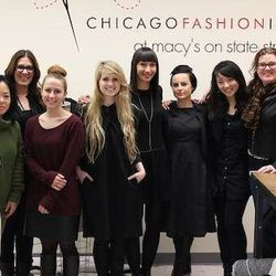 The designers of the Chicago Fashion Incubator at Macy's on State Street. [Top photo: via Facebook; rest: Jenny Berg]