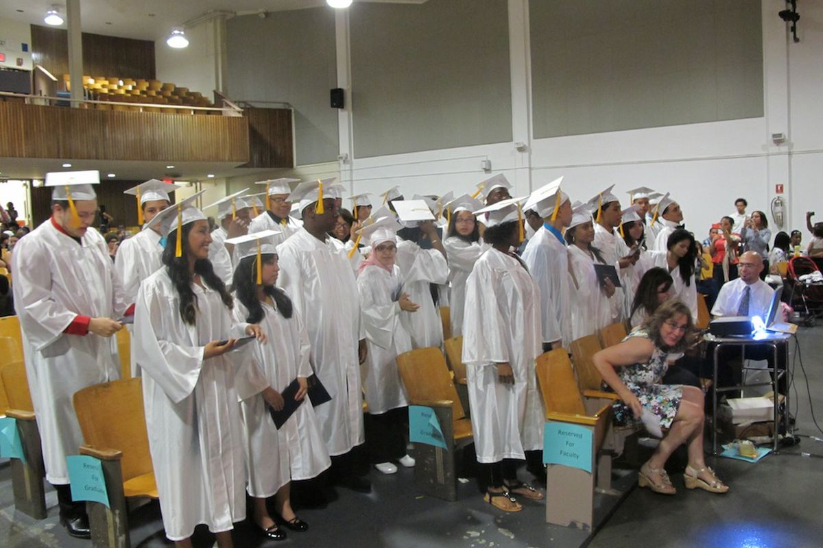 Graduation day at Park Slope Collegiate
