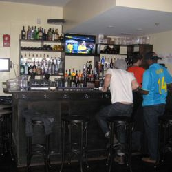 Second-floor bar