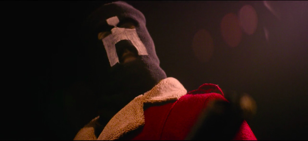 Black Museum: White Bear masked man