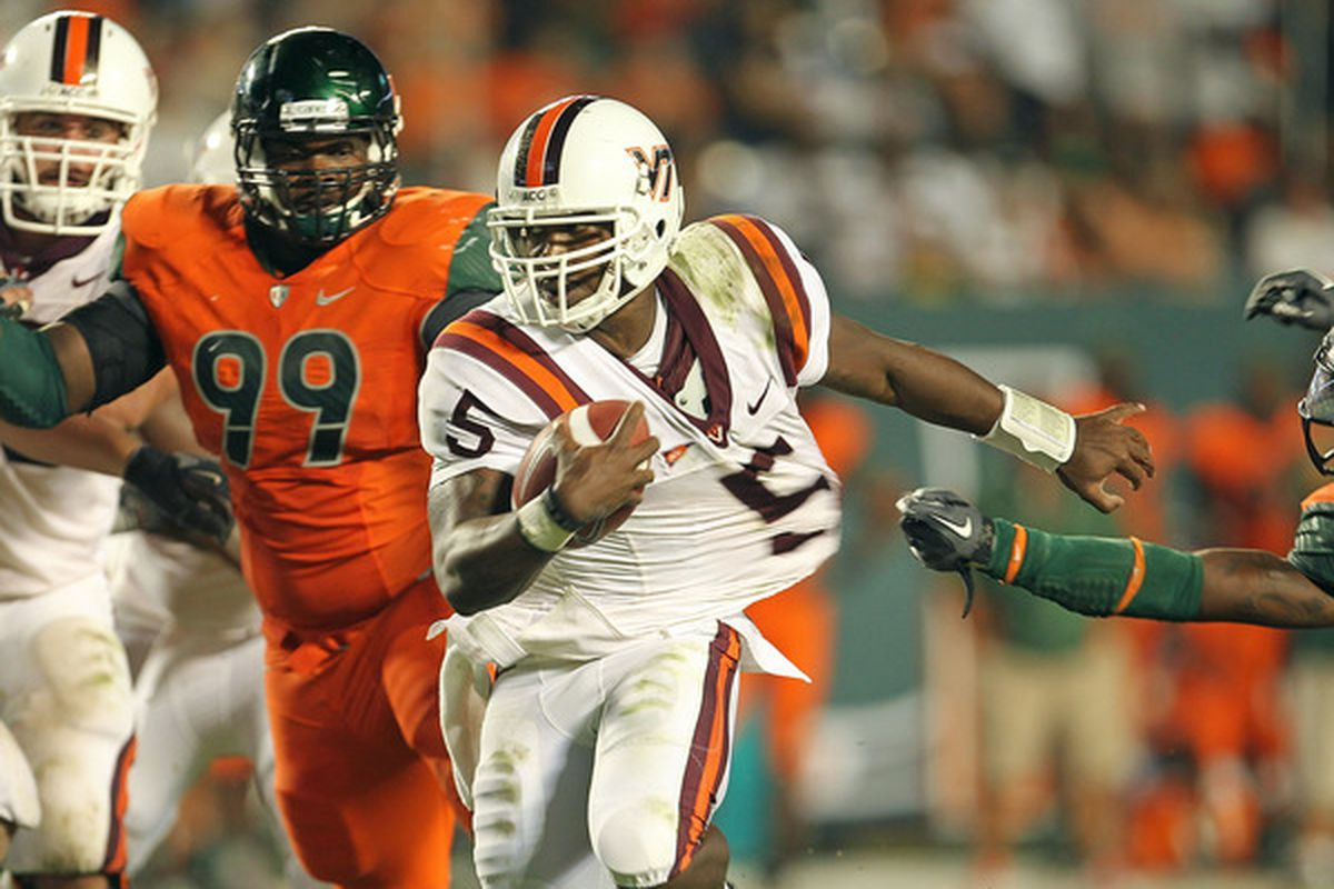 One last time to watch Tyrod Taylor on Worsham Field. (Photo by Mike Ehrmann/Getty Images)