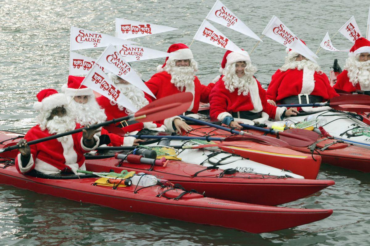 Santa Clauses promote Santa Claus II the movie