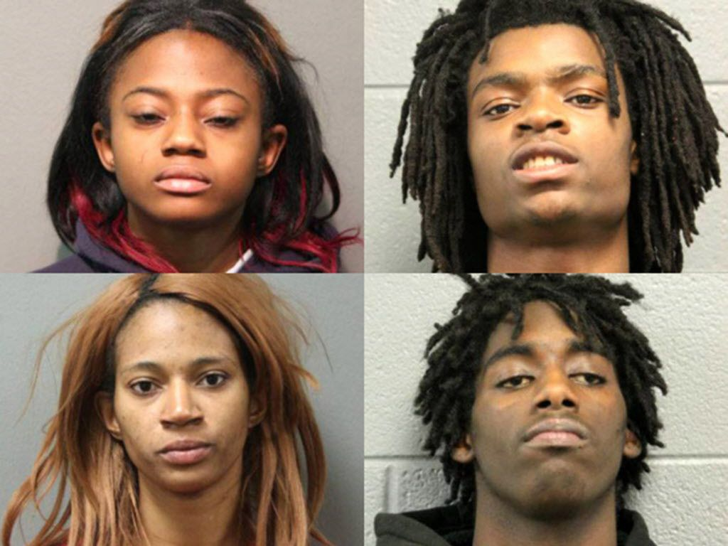 Brittany Covington of Chicago; (clockwise from upper left) Tesfaye Cooper of Chicago; Jordan Hill of Carpentersville; and Tanishia Covington of Chicago. File Photo.   Chicago Police Department