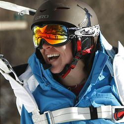 Suzanne Graham is the world's only active female ski BASE jumper.