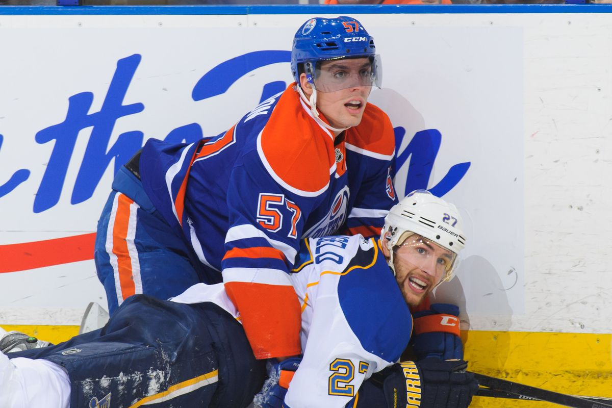 Clearly, David Perron was saving his enegry to pin Alex Pietrangelo during the Feats of Strength.