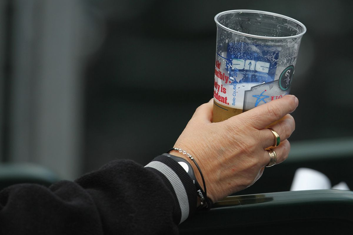 White Sox Baseball 2011- Creating alcoholics one game at a time.  (Photo by Jonathan Daniel/Getty Images)