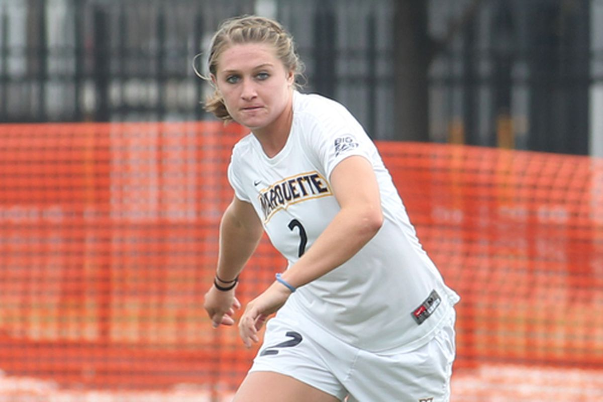 Senior forward Mady Vicker is one of two Golden Eagles on the preseason all-conference team.
