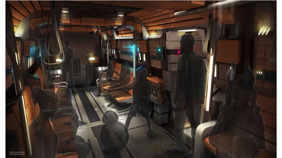 """The """"transports"""" shown in artist renders feature orange padded walls, but otherwise look a lot like a bus."""