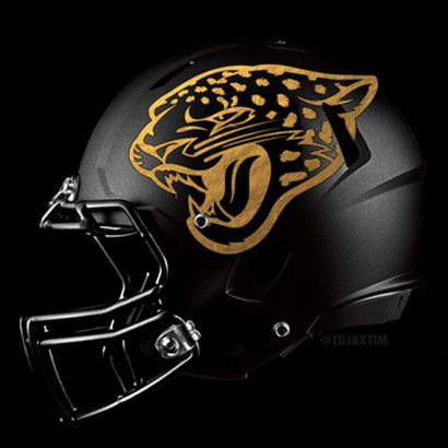 Jaguars New Helmet 2013 Jaguars matte black he...