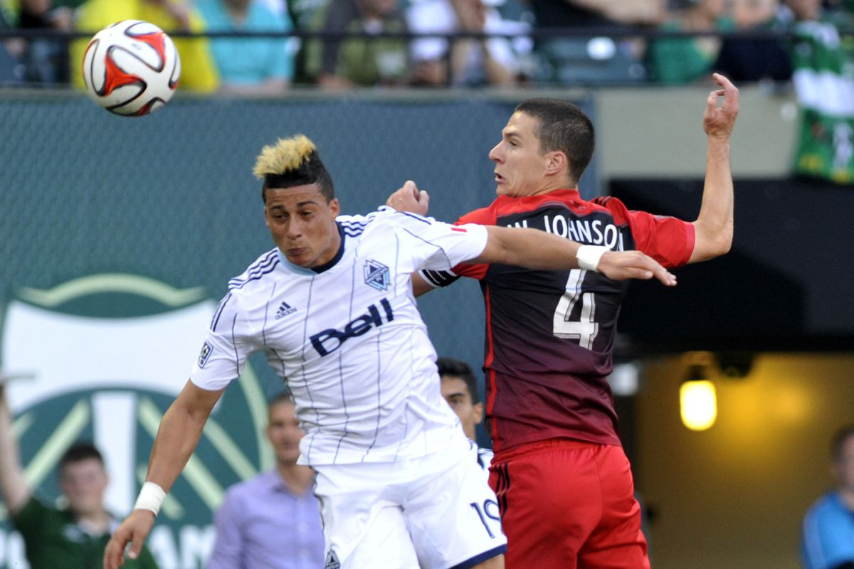 Erik Hurtado (L) and the Vancouver Whitecaps will have to rediscover their scoring touch this weekend to beat the Portland Timbers