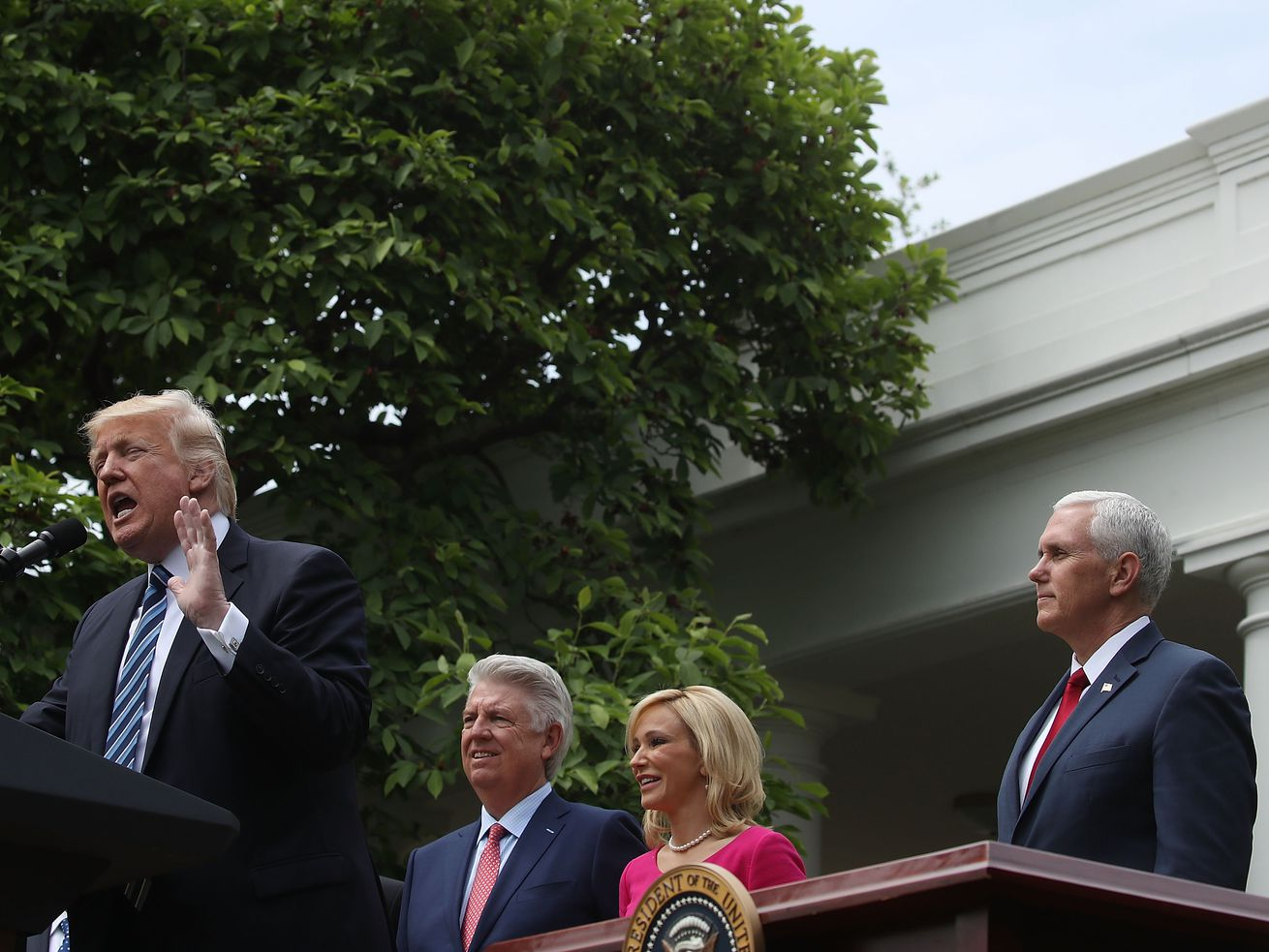 Trump on last year's National Day of Prayer.