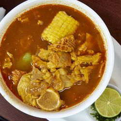 The Sunday soup special with tripe.
