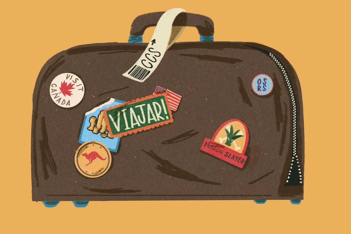 A suitcase shows the potential for RuneScape earnings to transform a player's life