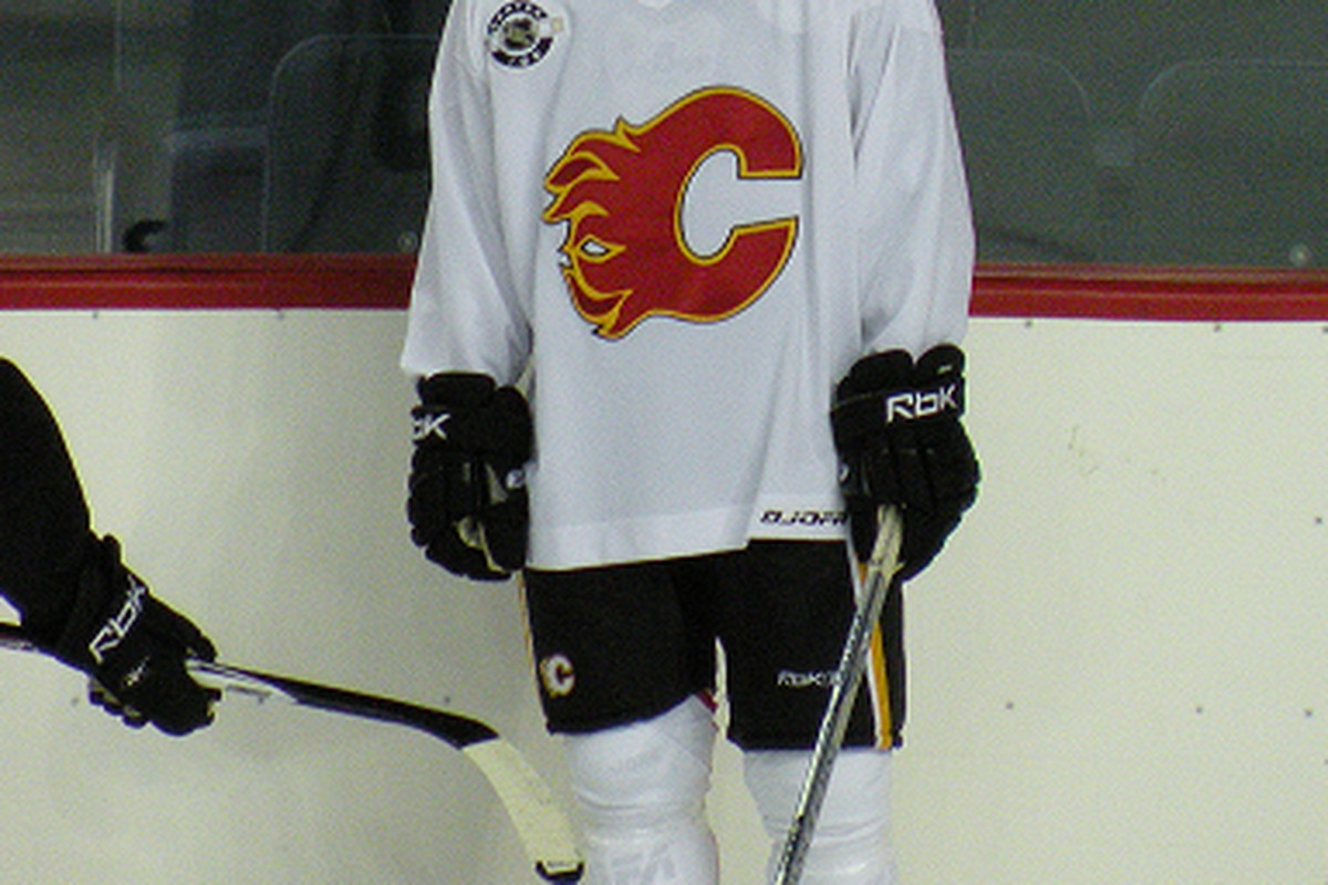 Daniel Ryder at a prospect camp several years ago. Photo taken by commenter Resolute.