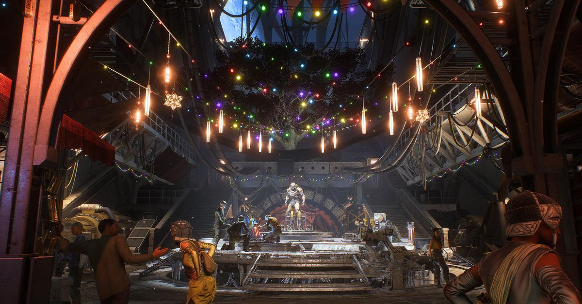 Relatable: Anthem and I both have our Christmas decorations still up