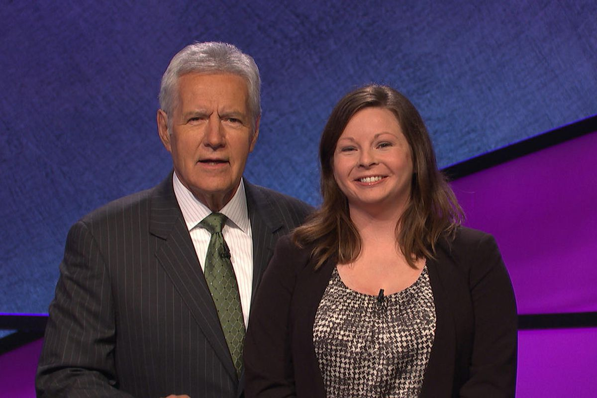 """Betsy Knudson, an attorney from Salt Lake City, won her second game on """"Jeopardy"""" Wednesday night, bringing her overall total to $38,601."""