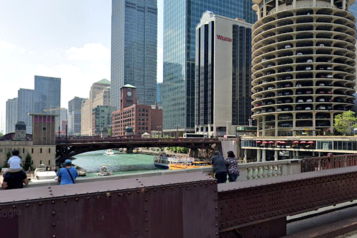 Two people were rescued from the Chicago River May 28, 2020, near State Street and Wacker Drive.