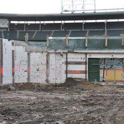 Right-field bleachers along Sheffield