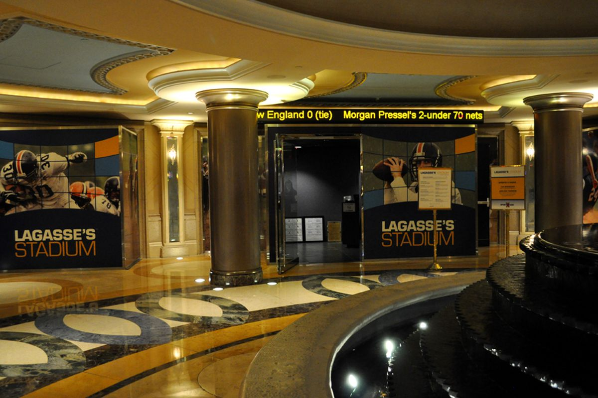The entrance to Lagasse's Stadium