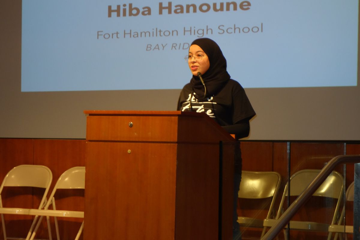 The author at an event organized by Teens Take charge.