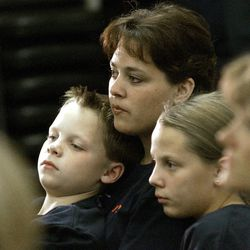 Becky Lockhart, the first woman to serve as Utah House speaker, died at her home Saturday, Jan. 17, 2015, from an unrecoverable and extremely rare neurodegenerative brain disease. Lockhart, pictured in 2004 with her son Stephen and daughter Emily, was 46.