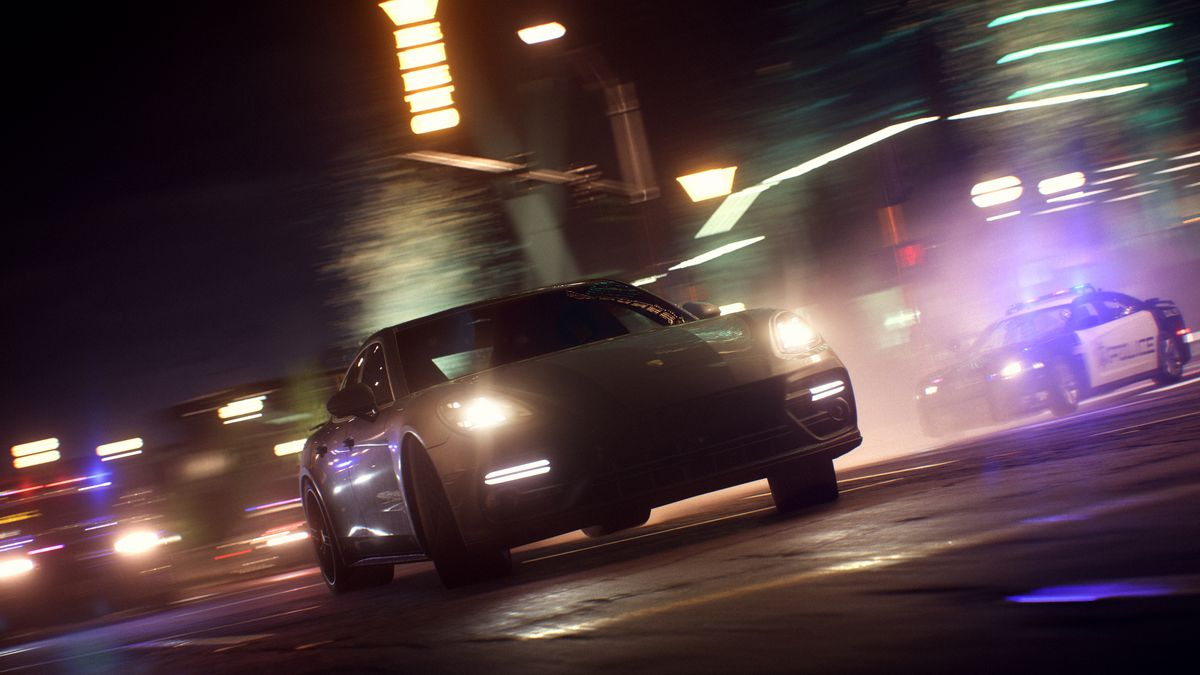Need for Speed Payback - cops in pursuit of black car