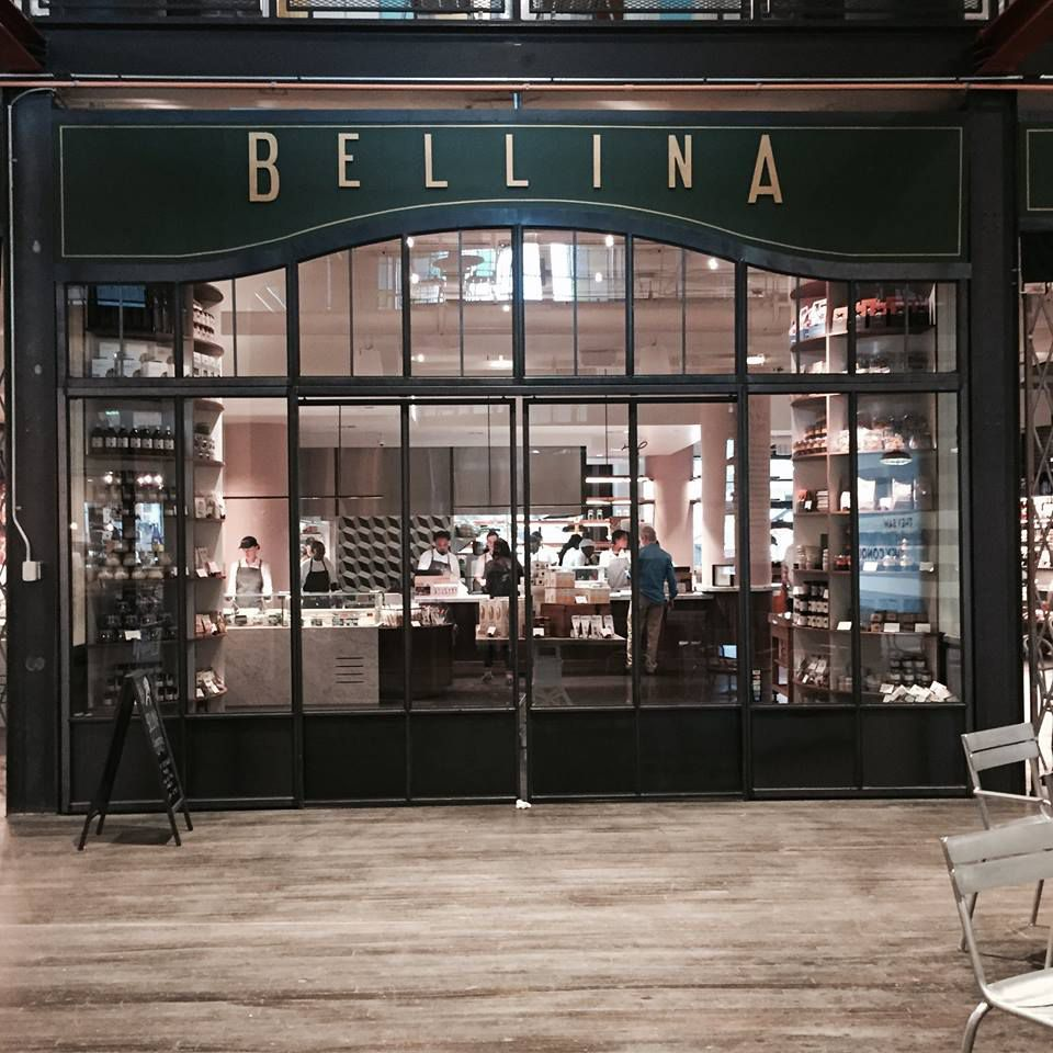 Looking into Bellina Alimentari on the first floor of Ponce City Market in Atlanta