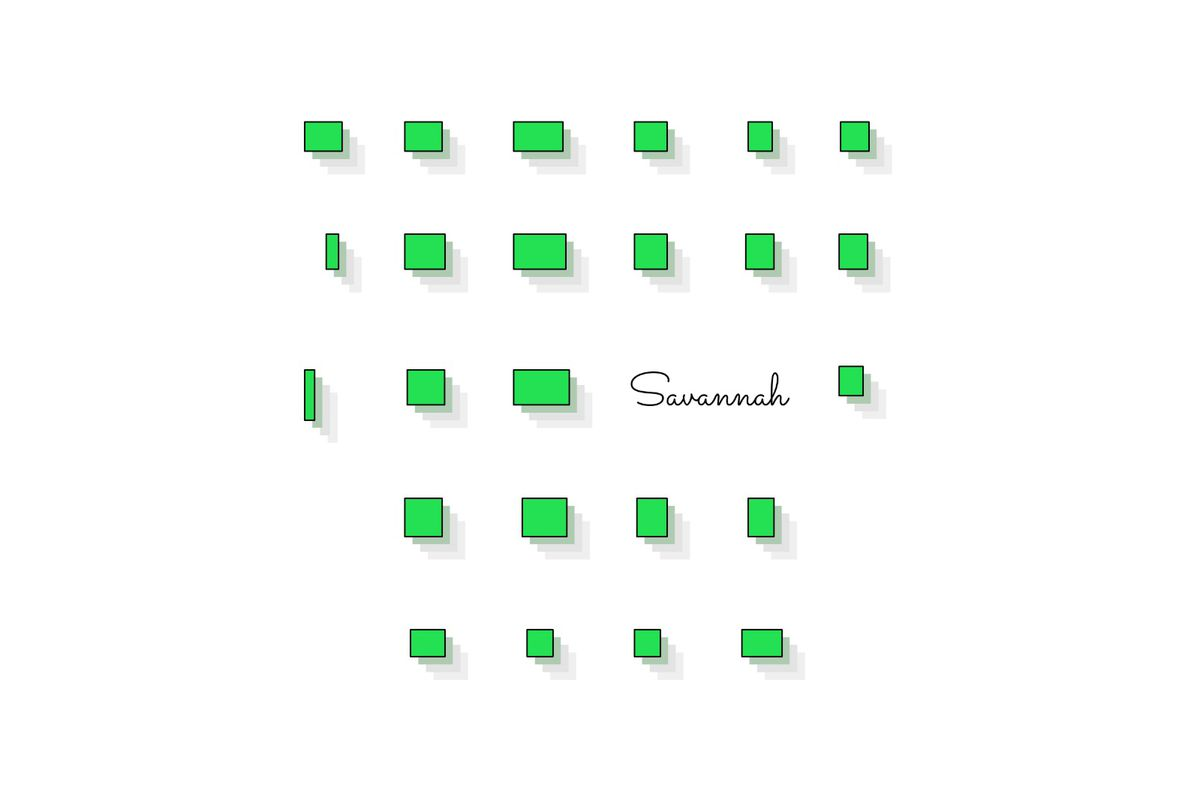 Illustration of green boxes representing Savannah