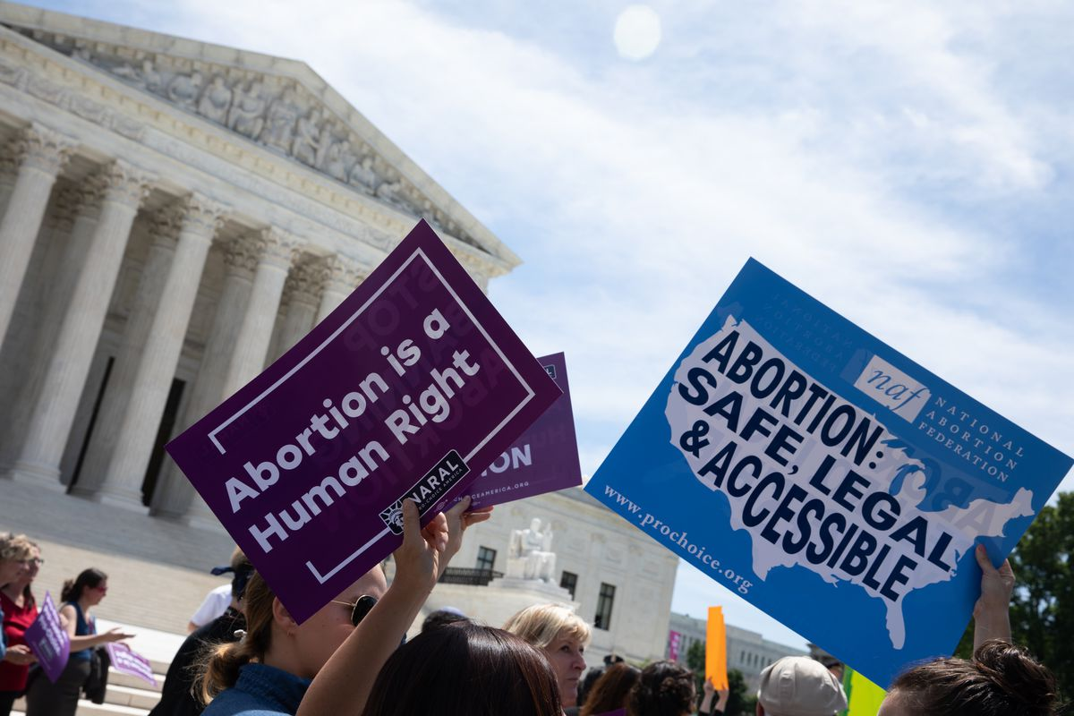 Abortion Rights Activist Protest Outside Supreme Court