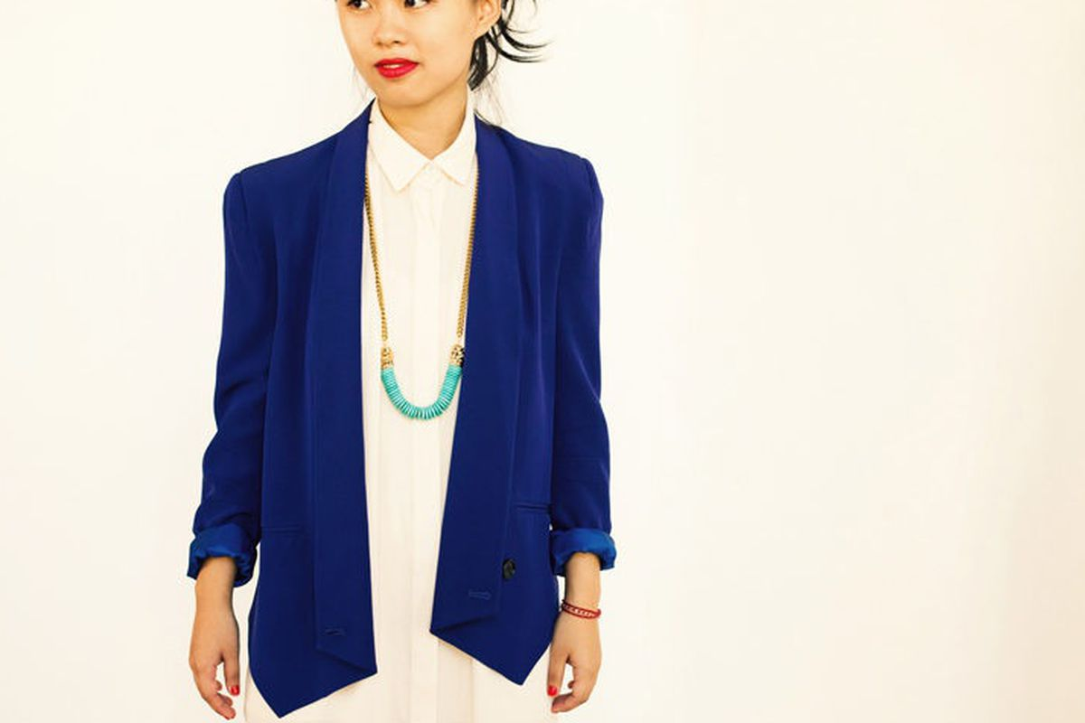 Bones and Feathers Collective's Petite Shark Necklace, via Racked LA