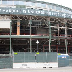 11:37 a.m. The front of the ballpark -