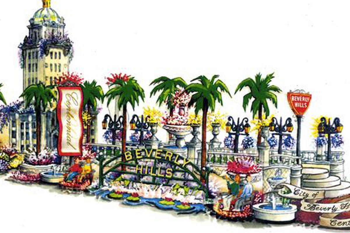 "Image via <a href=""http://www.beverlyhills.org/exploring/centennialcelebration/2014floatdecorating/"">BeverlyHills.org</a>"