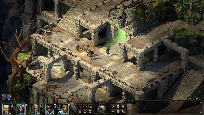 Pillars of Eternity 2: Deadfire - adventurers travel through ruins