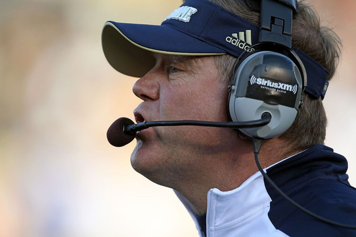 Brian Kelly and Notre Dame are in the mix for Gunner Kiel.