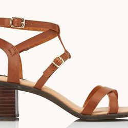 """<b>Forever21</b> Favorite Chunky Sandals in Brown, <a href=""""http://www.forever21.com/Product/Product.aspx?BR=f21&Category=shoes_sandalsflipflops-heel&ProductID=2000066039&VariantID="""">$33</a>"""