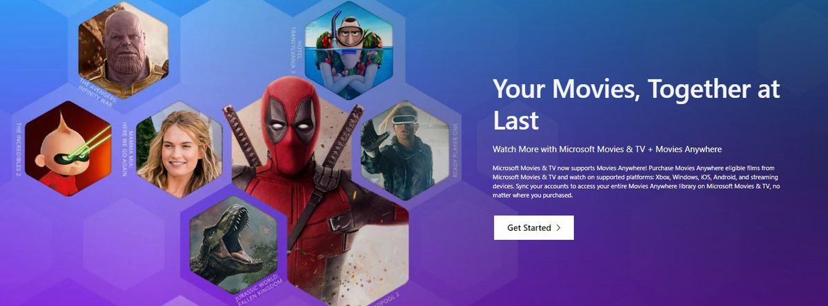 Microsoft Movies & TV account linking screenshot