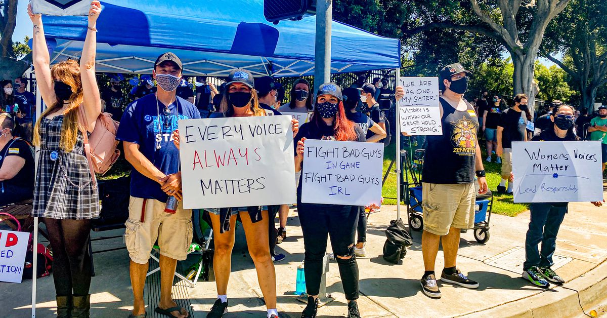 Activision Blizzard employees walk out of work to protest rampant sexism and discrimination