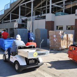 Still more equipment being moved out of Wrigley