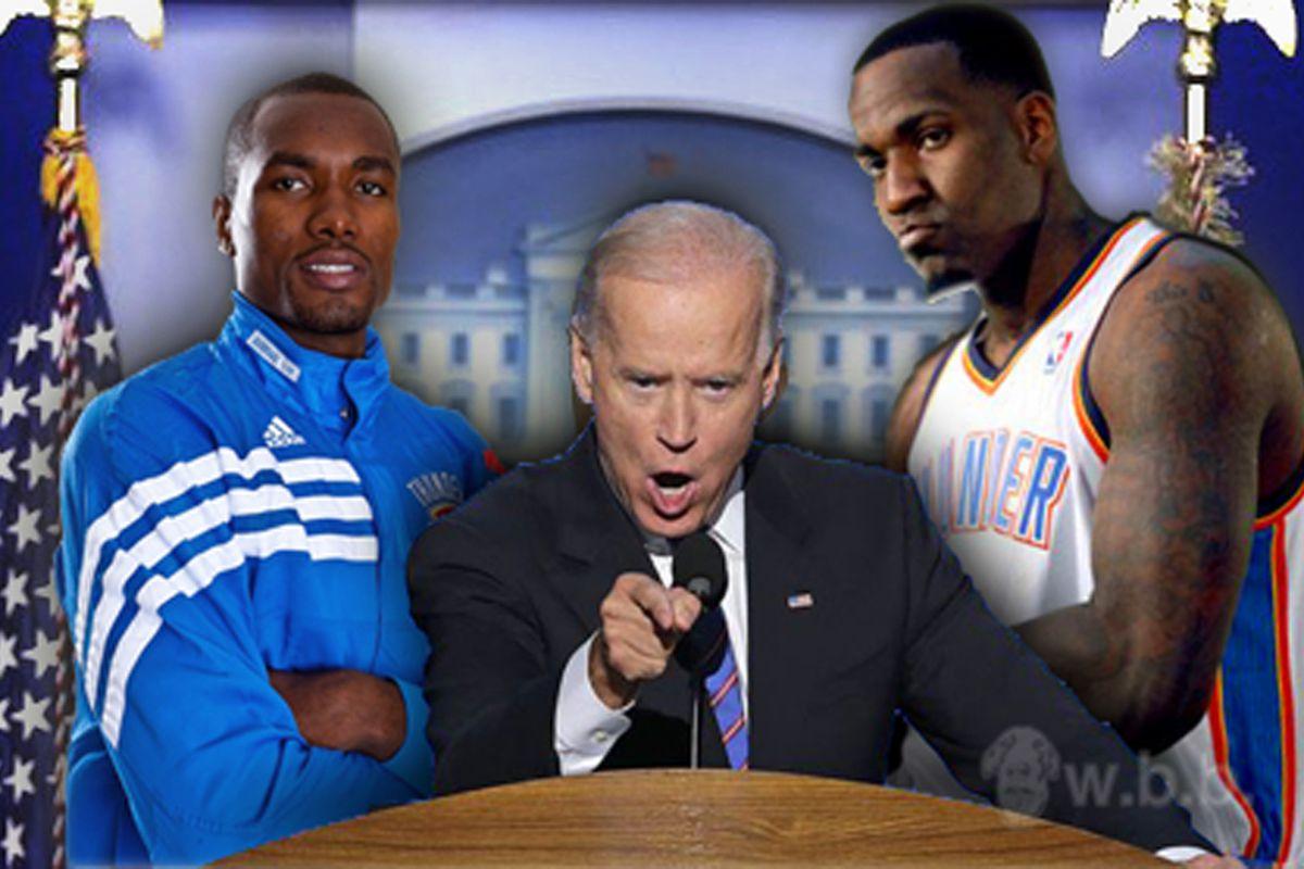 """Wiz beat the Thunder...that's a big f'n deal"" - Joe Biden"